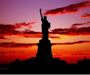 new york, sunset, and love image