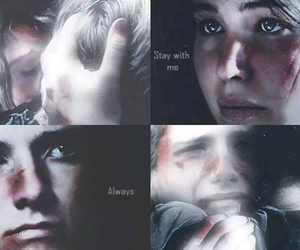 beautiful, cry, and hunger games image