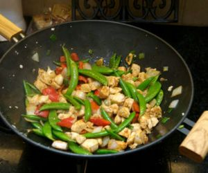 food, wok, and lovely image