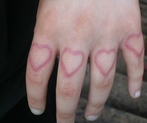 heart, pale, and hand image