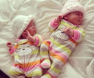 adorable, babies, and stripes image