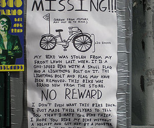 bike, missing, and cool image