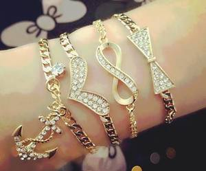bracelet, infinity, and accessories image