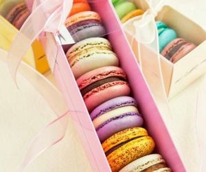 color, food, and macaron image
