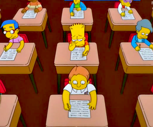 the simpsons and school image