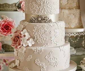 cake, wedding cake, and wedding image