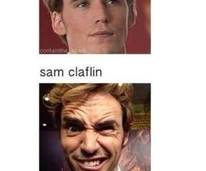 actor, finnick odair, and sam claflin image