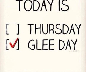 glee and thursday image