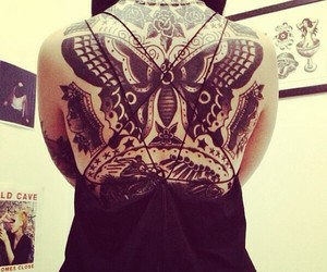 butterfly, girl, and Tattoos image