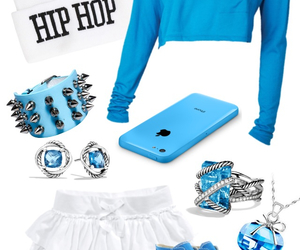 accessories, blue, and clothes image