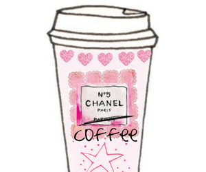 chanel, pink, and coffee image