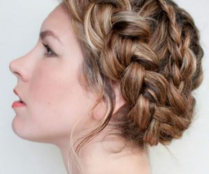 braided updo hair style image