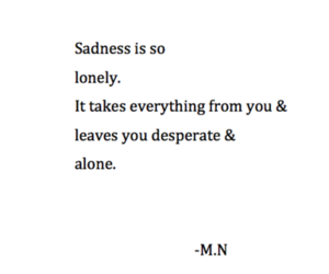 alone, lonely, and sadness image