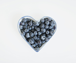 blueberry, fruit, and heart image
