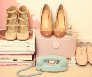 box, heels, and soft pink image