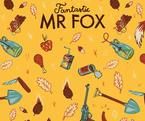 drawing, fantastic mr. fox, and poster image