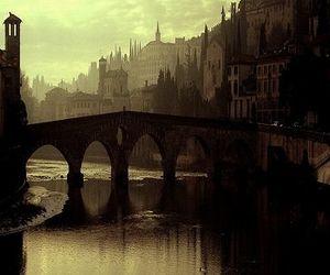 atmosphere, bridge, and city image