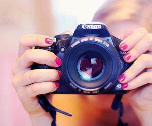 camera, canon, and nails image