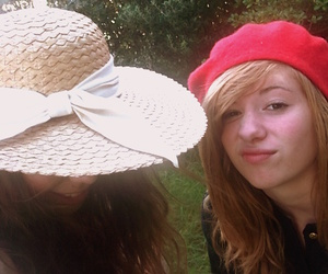 beret, hat, and girls image