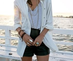fashion, beach, and shorts image