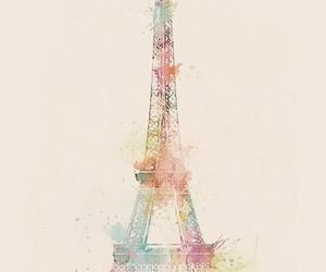 art, draw, and eifel tower image