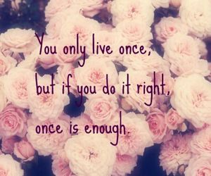 quote, yolo, and flowers image