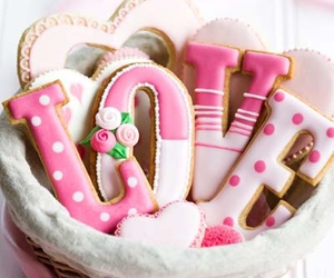 love, Cookies, and pink image
