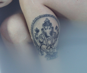 tattoo, Ganesh, and indie image