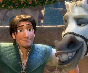 tangled, disney, and flynn rider image