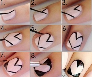 fashion, heart, and nail art image