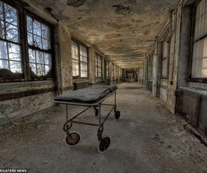 abandoned building, building, and asylum image
