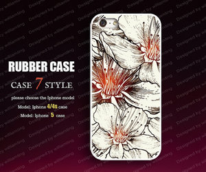 iphone 5 case, wood floral iphone 4 case, and iphone 4 case image