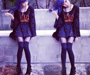hair, outfit, and hair color image