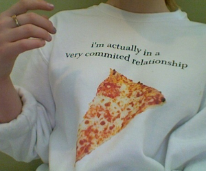 pizza, Relationship, and food image