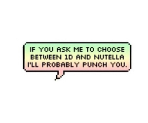 nutella, overlay, and one direction image
