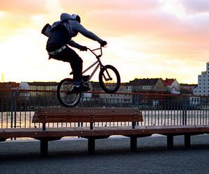 bmx, bike, and boy image