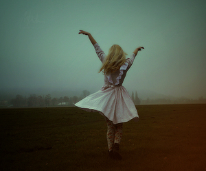blonde, clouds, and dance image