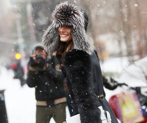 fashion, olivia palermo, and snow image