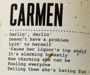Carmen, lana del rey, and Lyrics image