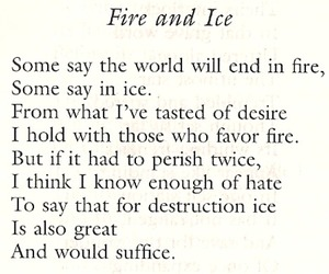 quote, fire, and ice image