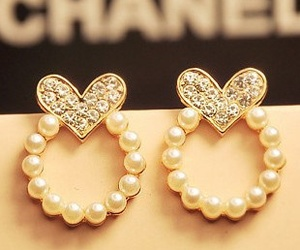 cute, earrings, and chanel image