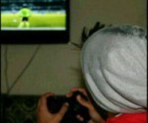girl, ps3, and man image