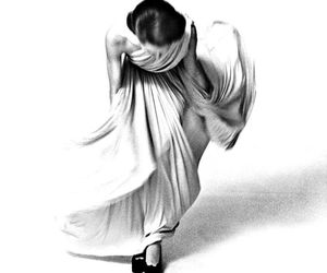 black and white, dress, and vintage image