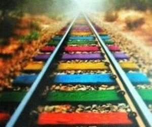 colorful, railroad, and colors image