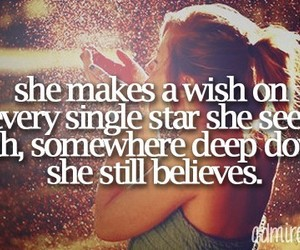 quote, wish, and believe image