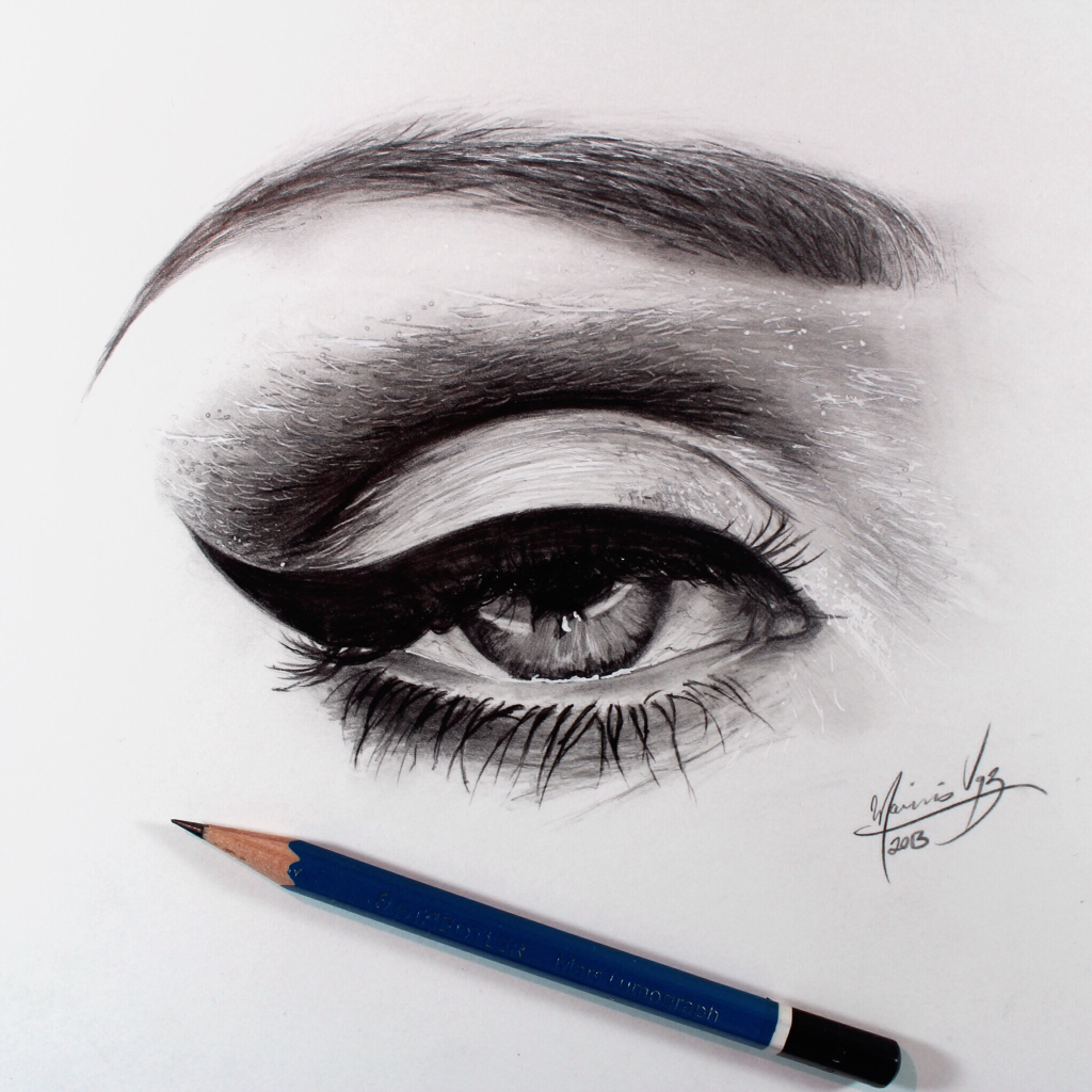 How to draw a eye with makeup makeup daily how to draw cat eye makeup pin drawn makeup arm 2 cosmetics drawing insram ccuart Images