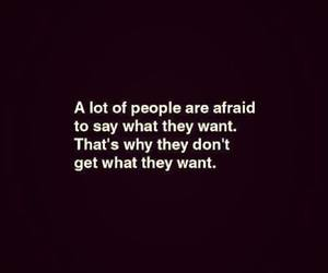 quotes, people, and afraid image