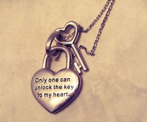 collier, heart, and key image
