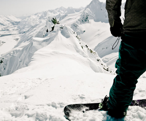 snow, snowboard, and mountains image