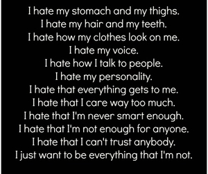 disgust, fat, and quotes image